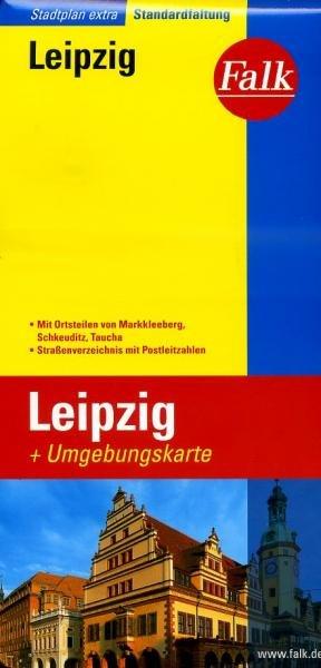 Leipzig 9783827924315  Falk Stadsplattegronden  Stadsplattegronden Sachsen, Thüringen, Dresden