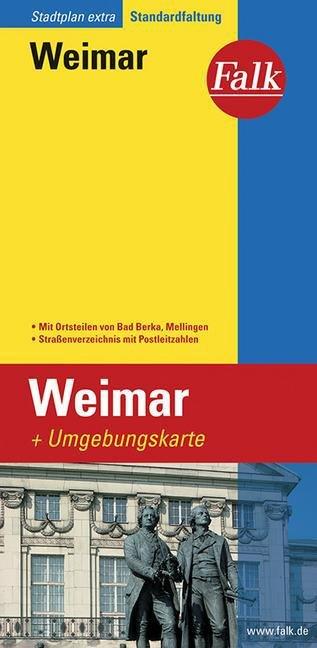 Weimar 1:15.000 9783827926241  Falk   Stadsplattegronden Thüringen, Weimar, Rennsteig