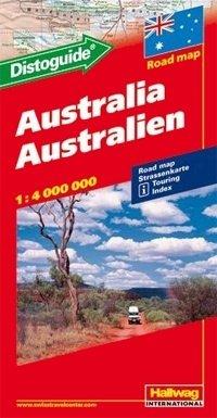 Australia met disto 1:4.000.000 9783828300057  Hallwag   Landkaarten en wegenkaarten Australië
