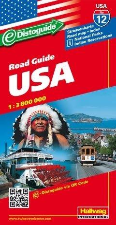 USA   Verenigde Staten (USA-12) 1:3.600.000 9783828300477  Hallwag   Landkaarten en wegenkaarten Verenigde Staten
