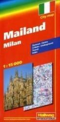 Milaan 1:13.500 9783828305335  Hallwag   Stadsplattegronden Ligurië, Piemonte, Lombardije