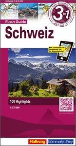Zwitserland 1:275.000 9783828308107  Hallwag   Landkaarten en wegenkaarten Zwitserland