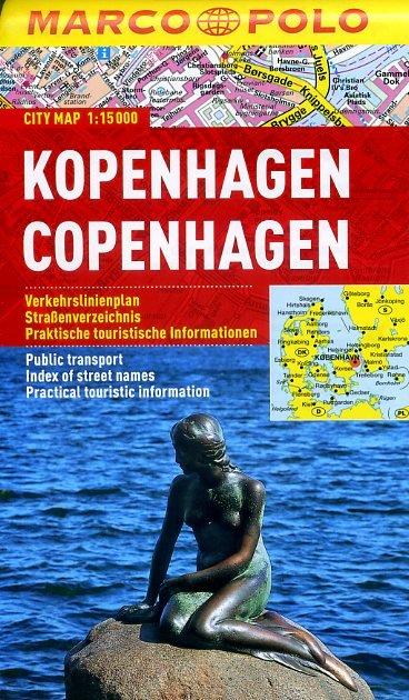 Marco Polo Kopenhagen stadsplattegrond 1:15.000 9783829730587  Marco Polo (D) Plattegronden  Stadsplattegronden Denemarken