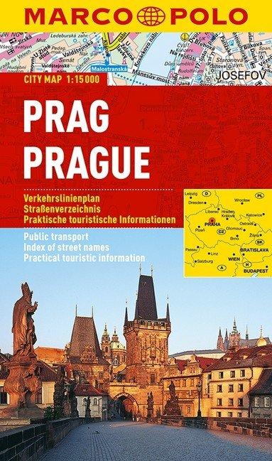 Praag 1:15.000 9783829730730  MairDumont Marco Polo Citymaps  Stadsplattegronden Tsjechië