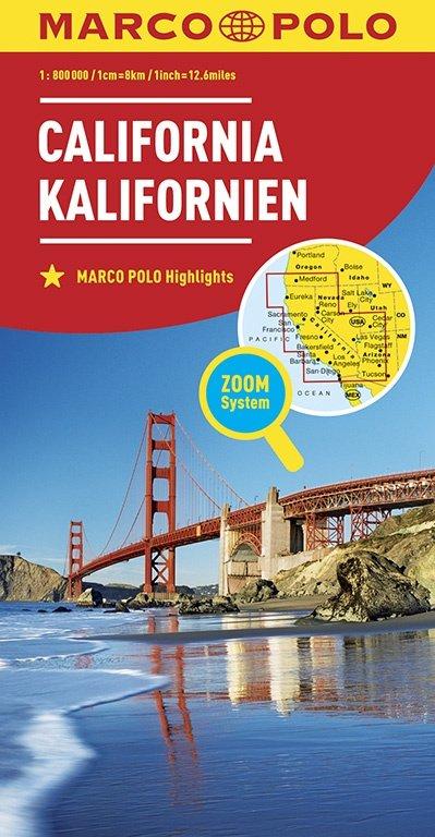 California 1:800.000 9783829739412  Marco Polo (D) MP Wegenkaarten  Landkaarten en wegenkaarten California, Nevada