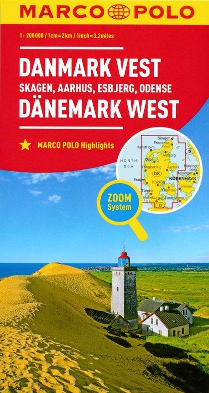 Den.1 Jutland   landkaart / wegenkaart 1:200.000 9783829739672  Marco Polo (D) MP Wegenkaarten  Landkaarten en wegenkaarten Denemarken