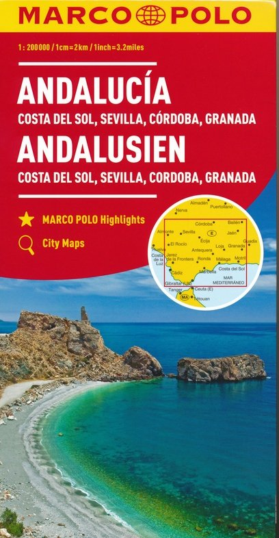 Andalusien 1:200.000 (Grossblatt) 9783829739924  Marco Polo (D) MP Wegenkaarten  Landkaarten en wegenkaarten Andalusië