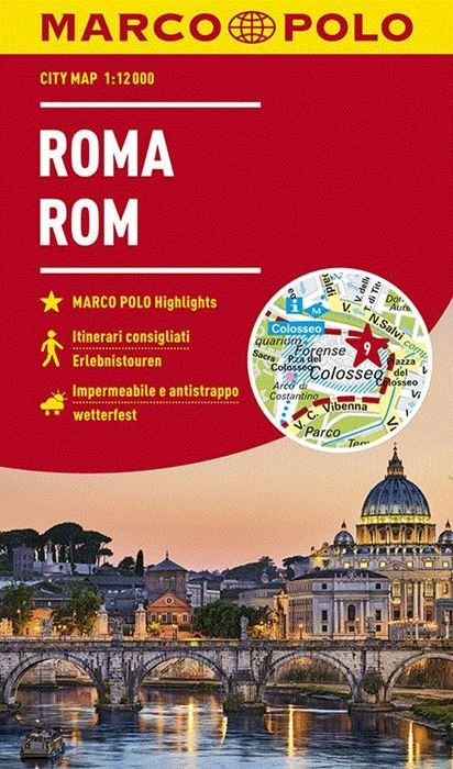 Rome stadsplattegrond 1:12.000 9783829741873  MairDumont Marco Polo Citymaps  Stadsplattegronden Rome, Lazio