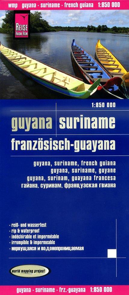 landkaart, wegenkaart Suriname,Guyana 1:850.000 9783831772636  Reise Know-How WMP Polyart  Landkaarten en wegenkaarten Suriname, Frans en Brits Guyana