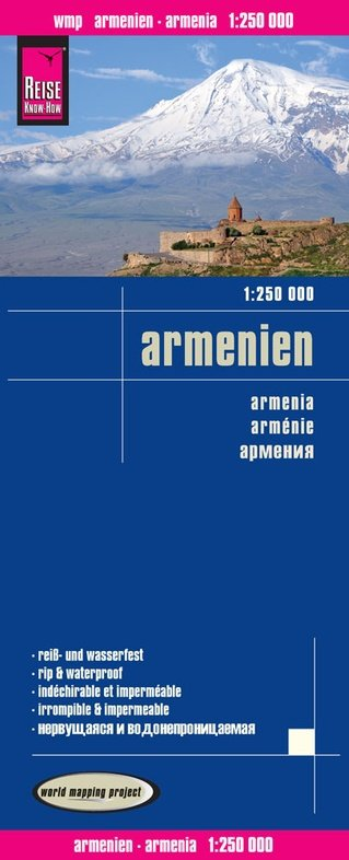 landkaart, wegenkaart Armenië 1: 250.000 9783831772735  Reise Know-How WMP Polyart  Landkaarten en wegenkaarten Armenië