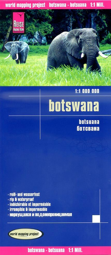 landkaart, wegenkaart Botswana 1:1.000.000 9783831772773  Reise Know-How WMP Polyart  Landkaarten en wegenkaarten Botswana, Namibië
