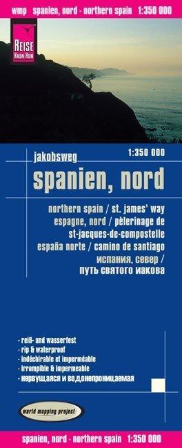 landkaart, wegenkaart Noord-Spanje 1:350.000 9783831772810  Reise Know-How WMP Polyart  Landkaarten en wegenkaarten, Santiago de Compostela Noordwest-Spanje, Compostela, Picos de Europa