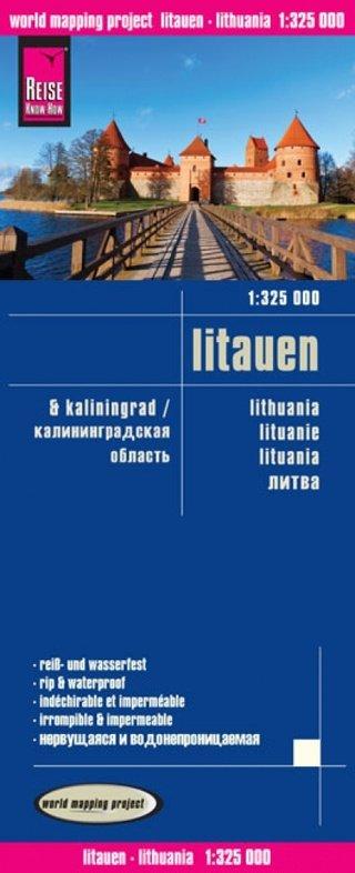 landkaart, wegenkaart Litauen 1:325.000 9783831772865  Reise Know-How WMP Polyart  Landkaarten en wegenkaarten Litouwen