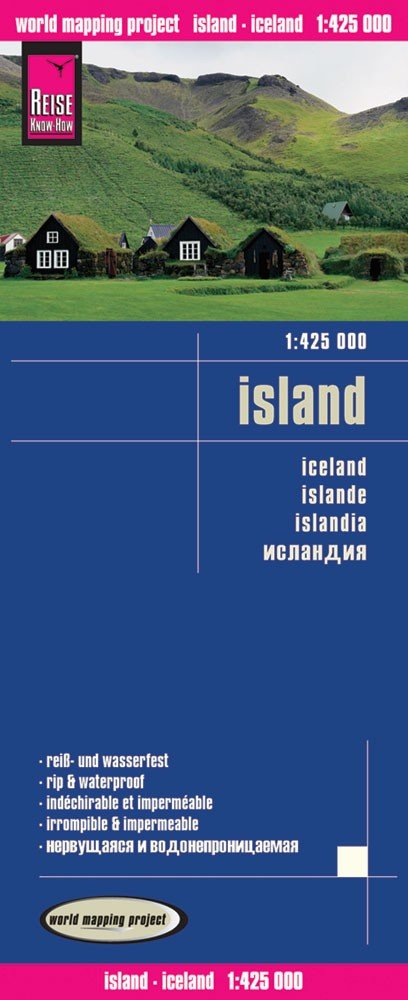landkaart, wegenkaart IJsland 1:425.000 9783831773022  Reise Know-How WMP Polyart  Landkaarten en wegenkaarten IJsland