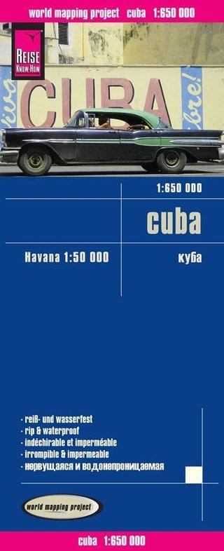landkaart, wegenkaart Cuba 1:650.000 9783831773121  Reise Know-How WMP Polyart  Landkaarten en wegenkaarten Cuba