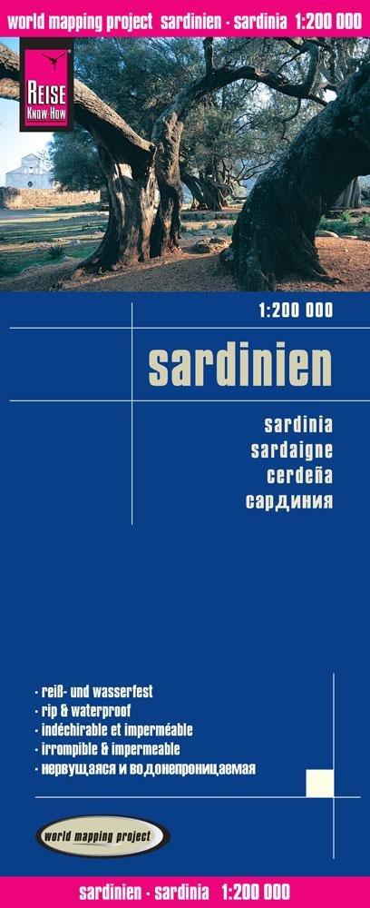 landkaart, wegenkaart Sardinien 9783831773213  Reise Know-How WMP Polyart  Landkaarten en wegenkaarten Sardinië