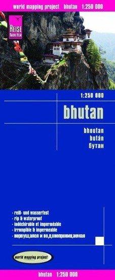 landkaart, wegenkaart Bhutan 1:250.000 9783831773336  Reise Know-How WMP Polyart  Landkaarten en wegenkaarten Bhutan en Sikkim
