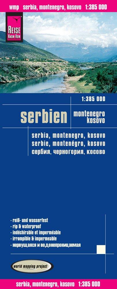 landkaart, wegenkaart Servië-Montenegro 1:385.000 9783831773459  Reise Know-How WMP Polyart  Landkaarten en wegenkaarten Servië, Bosnië-Hercegovina, Macedonië, Kosovo, Montenegro