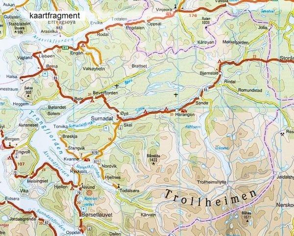 landkaart, wegenkaart Zuid-Noorwegen 1:500.000 9783831773527  Reise Know-How WMP Polyart  Landkaarten en wegenkaarten Zuid-Noorwegen