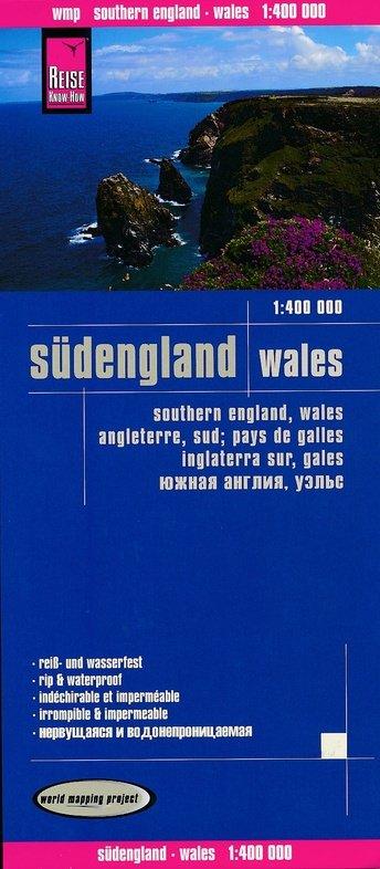 landkaart, wegenkaart Zuid-Engeland en Wales 1:400.000 9783831773732  Reise Know-How WMP Polyart  Landkaarten en wegenkaarten Groot-Brittannië