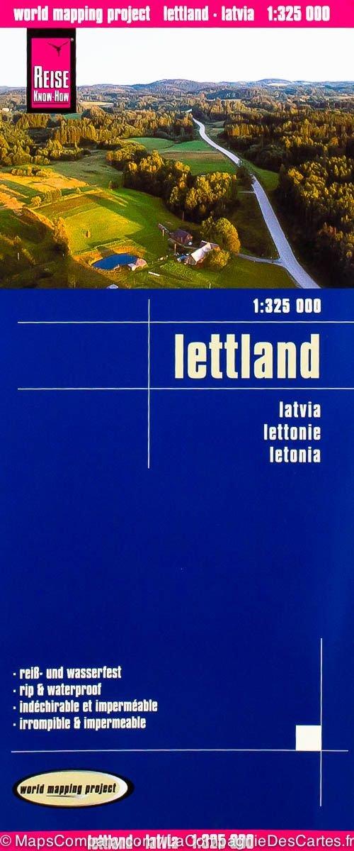 landkaart, wegenkaart Letland 1:325.000 9783831773787  Reise Know-How WMP Polyart  Landkaarten en wegenkaarten Letland