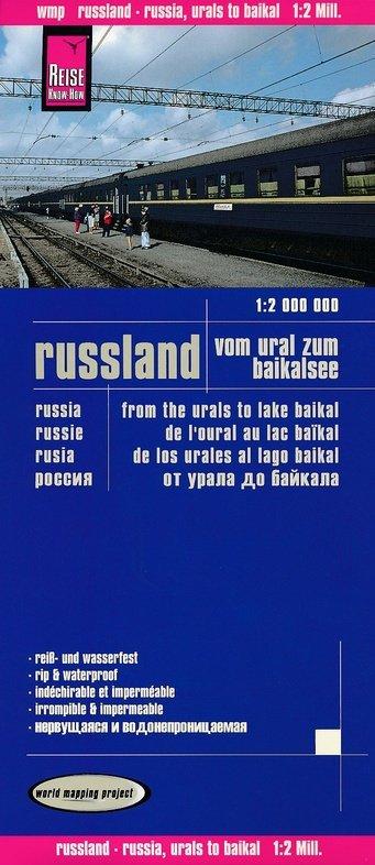 landkaart, wegenkaart Rusland, van de Oeral tot het Baikalmeer 1:2.000.000 9783831773794  Reise Know-How WMP Polyart  Landkaarten en wegenkaarten Siberië