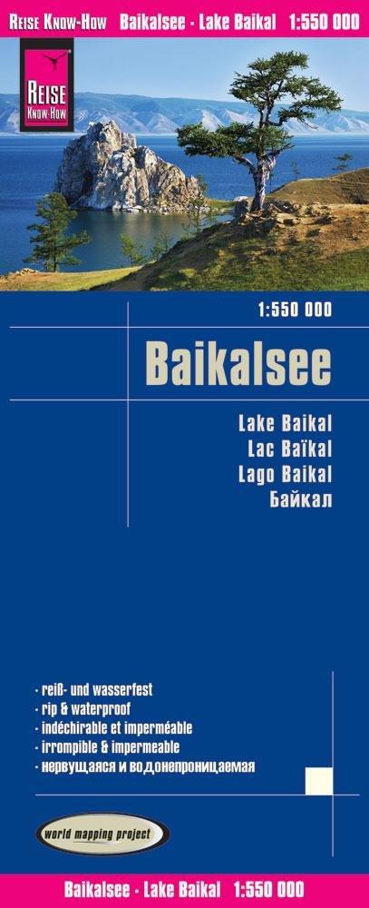 landkaart, wegenkaart Baikal 1:550.000 9783831773916  Reise Know-How WMP Polyart  Landkaarten en wegenkaarten Siberië