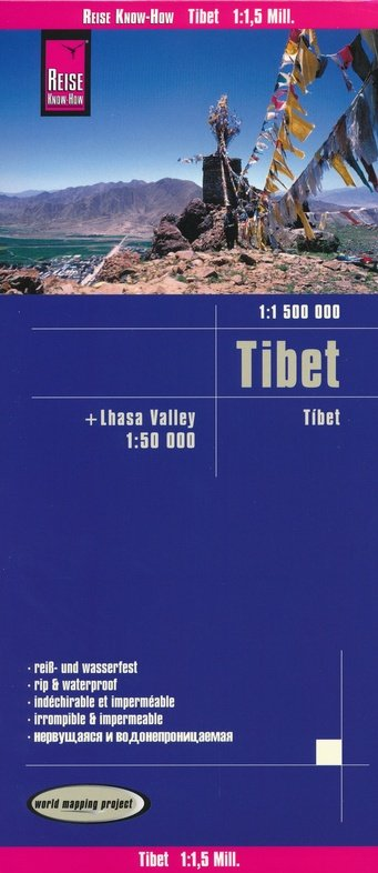 landkaart, wegenkaart Tibet 1:1.500.000 9783831773947  Reise Know-How WMP Polyart  Landkaarten en wegenkaarten Tibet