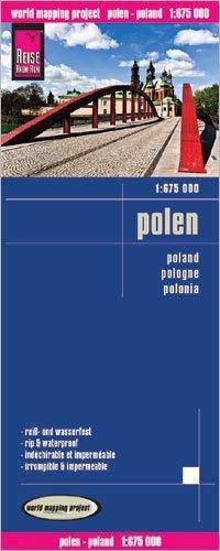 landkaart, wegenkaart Polen 1:675.000 9783831774036  Reise Know-How WMP Polyart  Landkaarten en wegenkaarten Polen