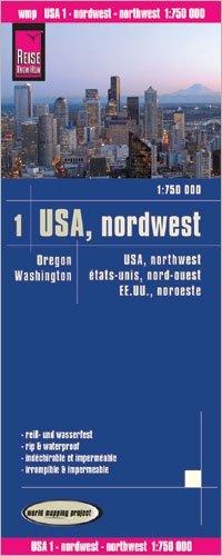 landkaart, wegenkaart USA-01 Northwest 9783831774050  Reise Know-How WMP Polyart  Landkaarten en wegenkaarten Washington, Oregon, Idaho, Wyoming, Montana