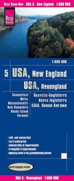 landkaart, wegenkaart USA-05  New England 1:600.000 9783831774067  Reise Know-How WMP Polyart  Landkaarten en wegenkaarten New England