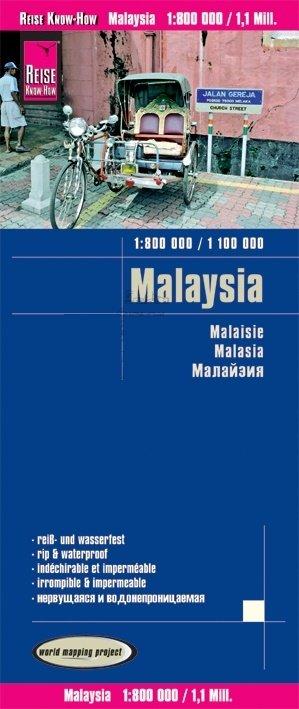 landkaart, wegenkaart Maleisië 1:1.100.000/ West 800.000 9783831774142  Reise Know-How WMP Polyart  Landkaarten en wegenkaarten Maleisië en Brunei