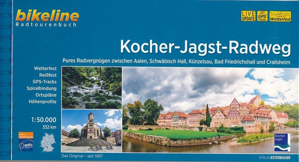 Bikeline Kocher-Jagst-Radweg | fietsgids 9783850000031  Esterbauer Bikeline  Fietsgidsen Heidelberg, Kraichgau, Stuttgart, Neckar