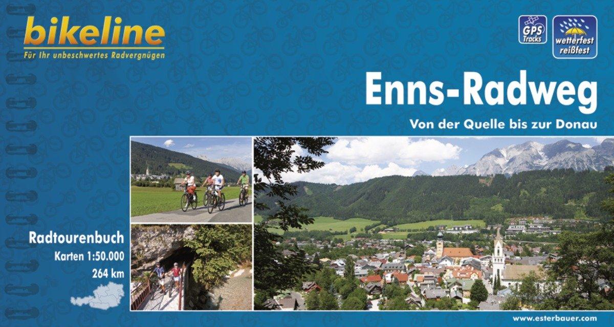 Bikeline Enns-Radweg | fietsgids 9783850000321  Esterbauer Bikeline  Fietsgidsen Salzburg, Karinthë, Tauern, Stiermarken