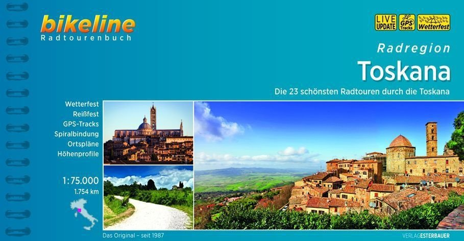 Bikeline Radatlas Toscana | fietsgids 9783850000499  Esterbauer Bikeline  Fietsgidsen Toscane, Florence