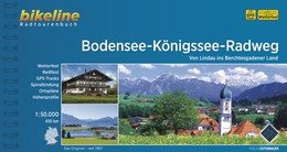 Bikeline Bodensee-Königssee Radweg   fietsgids 9783850001281  Esterbauer Bikeline  Fietsgidsen Beierse Alpen en München