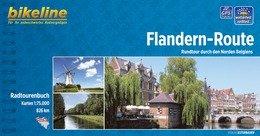 Bikeline Flandern-Route (Vlaanderenfietsroute) | fietsgids 9783850002158  Esterbauer Bikeline  Fietsgidsen, Meerdaagse fietsvakanties Vlaanderen & Brussel