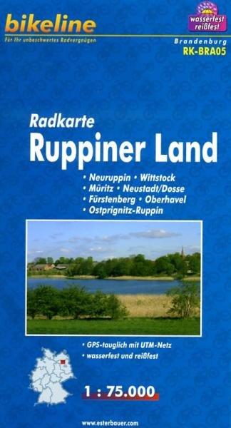 RK-BRA05  Ruppiner Land 1:75.000 9783850003049  Esterbauer Bikeline Radkarten  Fietskaarten Berlijn, Brandenburg