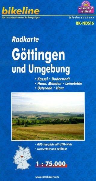 RK-NDS16 Göttingen und Umgebung 1:75.000 9783850003124  Esterbauer Bikeline Radkarten  Fietskaarten Hannover, Weserbergland