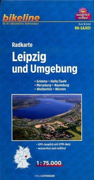 RK-SAX01  Omgeving Leipzig 1:75.000 9783850003193  Esterbauer Bikeline Radkarten  Fietskaarten Leipzig