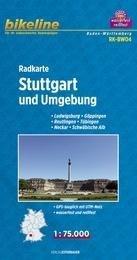 RK-BW04  Stuttgart & omgeving 1:75.000 9783850003247  Esterbauer Bikeline Radkarten  Fietskaarten Baden-Württemberg, Zwarte Woud