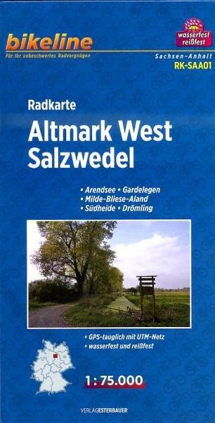 RK-SAA01  Altmark West  1:75.000 9783850003490  Esterbauer Bikeline Radkarten  Fietskaarten Schleswig-Holstein, Hamburg, Niedersachsen