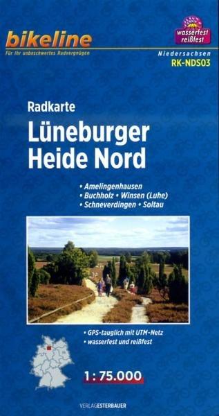 RK-NDS03  Lüneburger Heide Nord 1:75.000 9783850003605  Esterbauer Bikeline Radkarten  Fietskaarten Schleswig-Holstein, Hamburg, Niedersachsen