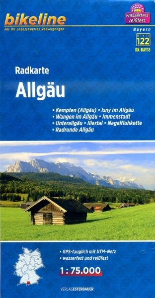 RK-BAY18 Allgäu 1:75.000 9783850003933  Esterbauer Bikeline Radkarten  Fietskaarten Beierse Alpen