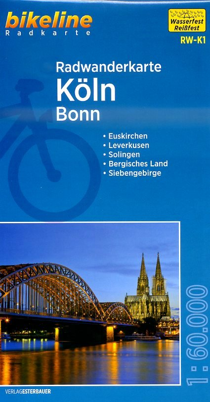 RW-K1  Köln - Bonn 9783850004039  Esterbauer Bikeline Radkarten  Fietskaarten Niederrhein, Ruhrgebied, Keulen