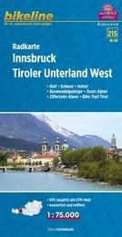RK-A12  Innsbruck, Tiroler Unterland West  1:75.000 9783850004084  Esterbauer Bikeline Radkarten  Fietskaarten Tirol & Vorarlberg