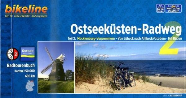 Bikeline Ostseeküsten-Radweg 2 | fietsgids 9783850004619  Esterbauer Bikeline  Fietsgidsen, Meerdaagse fietsvakanties Rügen, Hiddensee, Usedom, Oostzeekust