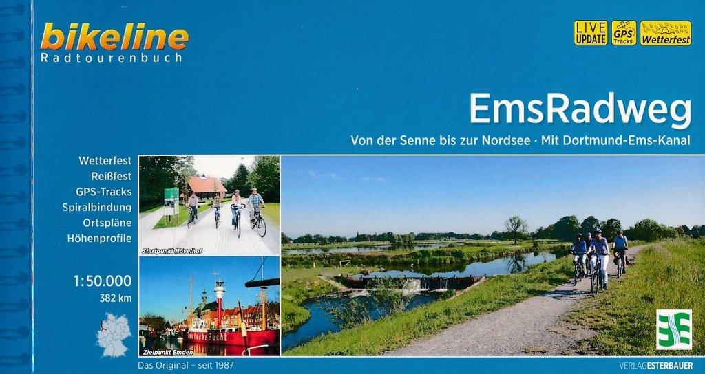 Bikeline Ems-Radweg | fietsgids 9783850004664  Esterbauer Bikeline  Fietsgidsen Schleswig-Holstein, Hamburg, Niedersachsen