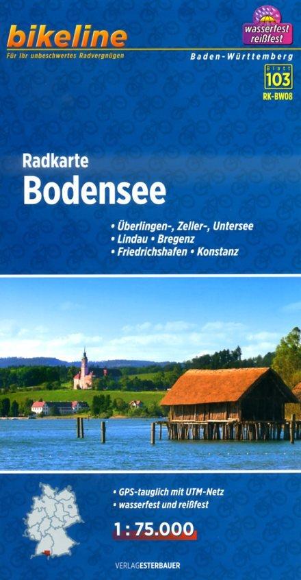 Bodensee Radkarte 1:75.000 9783850004794  Esterbauer Bikeline  Fietskaarten Bodenmeer, Schwäbische Alb