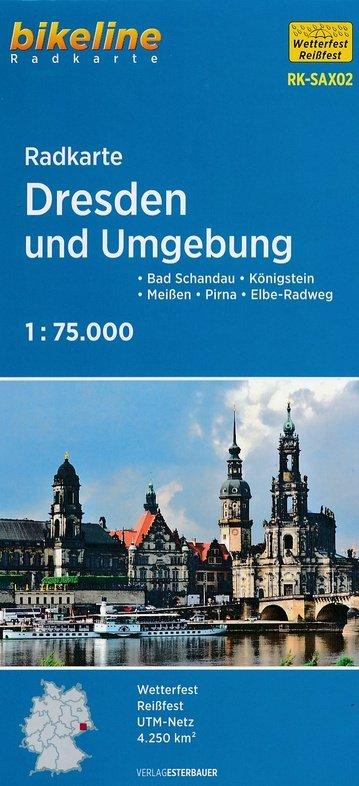 RK-SAX02  Dresden Erzgebirge Ost Elbsandsteingebirge 9783850005982  Esterbauer Bikeline Radkarten  Fietskaarten Dresden